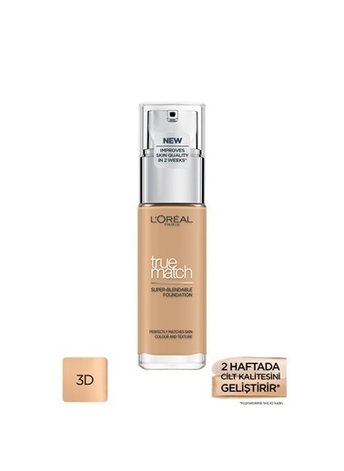 L'Oréal Paris L'Oréal Paris True Match Fondöten 3D3W BEIGE DORE Ten